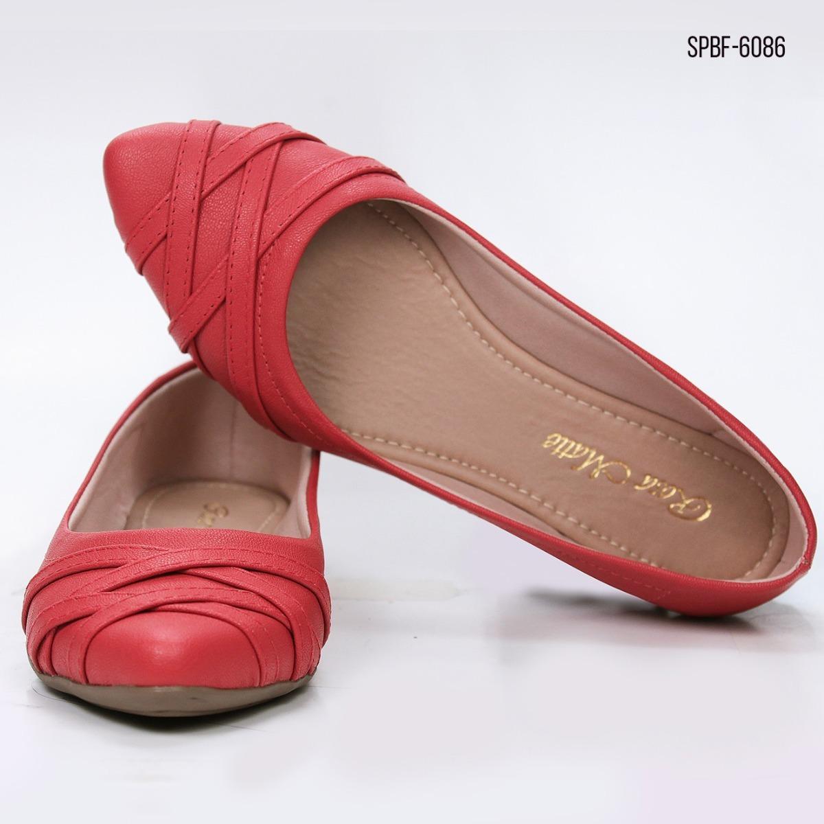 sapato feminino sapatilha bico fino vermelha cores barata. Carregando zoom. 985d1f33282b0