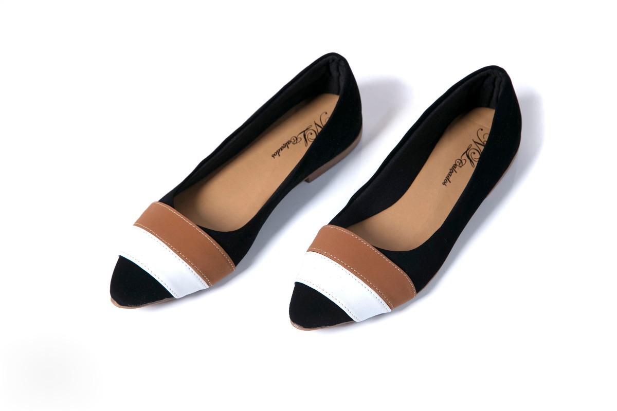 sapato feminino sapatilha preto em camurça lindo e barato. Carregando zoom. e348bf54cb104