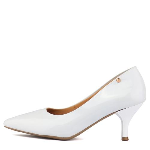 ac0945f07 sapato feminino scarpin. Carregando zoom... scarpin sapato social feminino  verniz fashion festa 2018