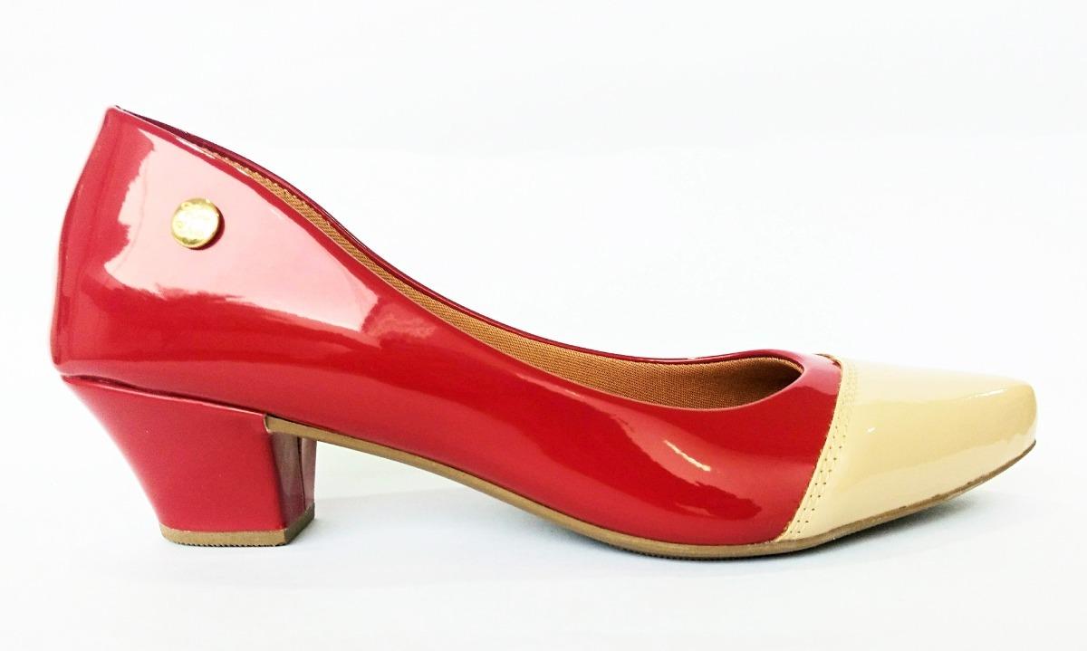 9288103d04 sapato feminino scarpin bico fino salto baixo grosso festa. Carregando zoom.