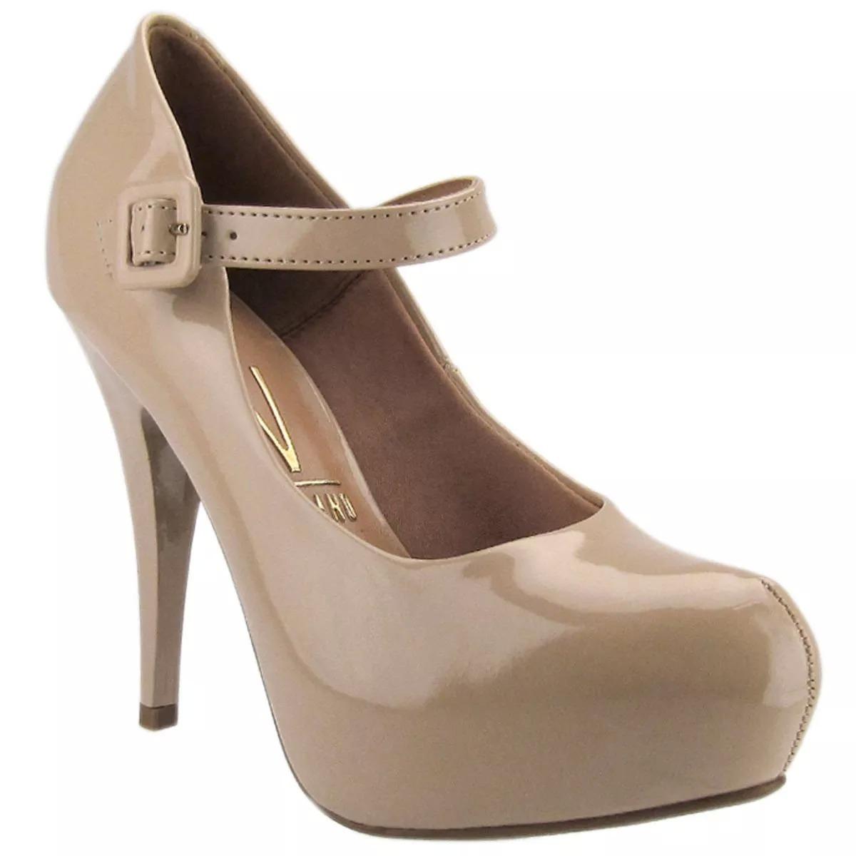 a9125c187 sapato feminino scarpin boneca vizzano verniz meia pata. Carregando zoom.