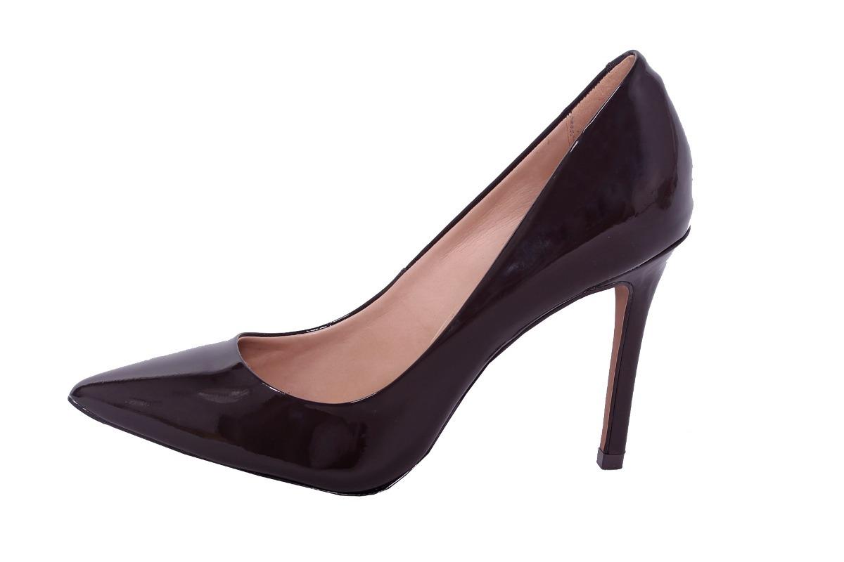2d24295a5c sapato feminino scarpin café verniz 9272 mais barato dafiti. Carregando  zoom.