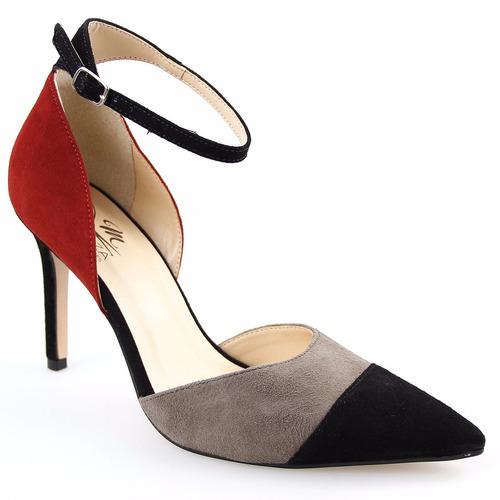 sapato feminino scarpin camurça charmoso oferta frete grátis