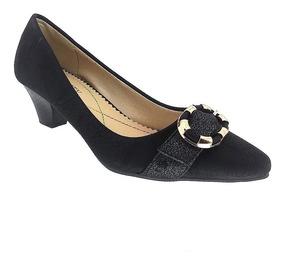 fe08190a0 Sapato De Salto Preto E Dourado - Sapatos com o Melhores Preços no ...