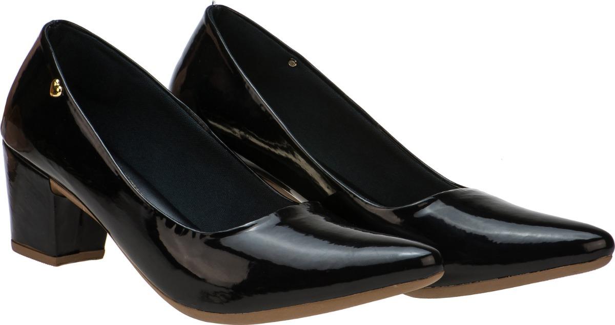 f6328299b8 Sapato Feminino Scarpin Confort Promoção Verniz