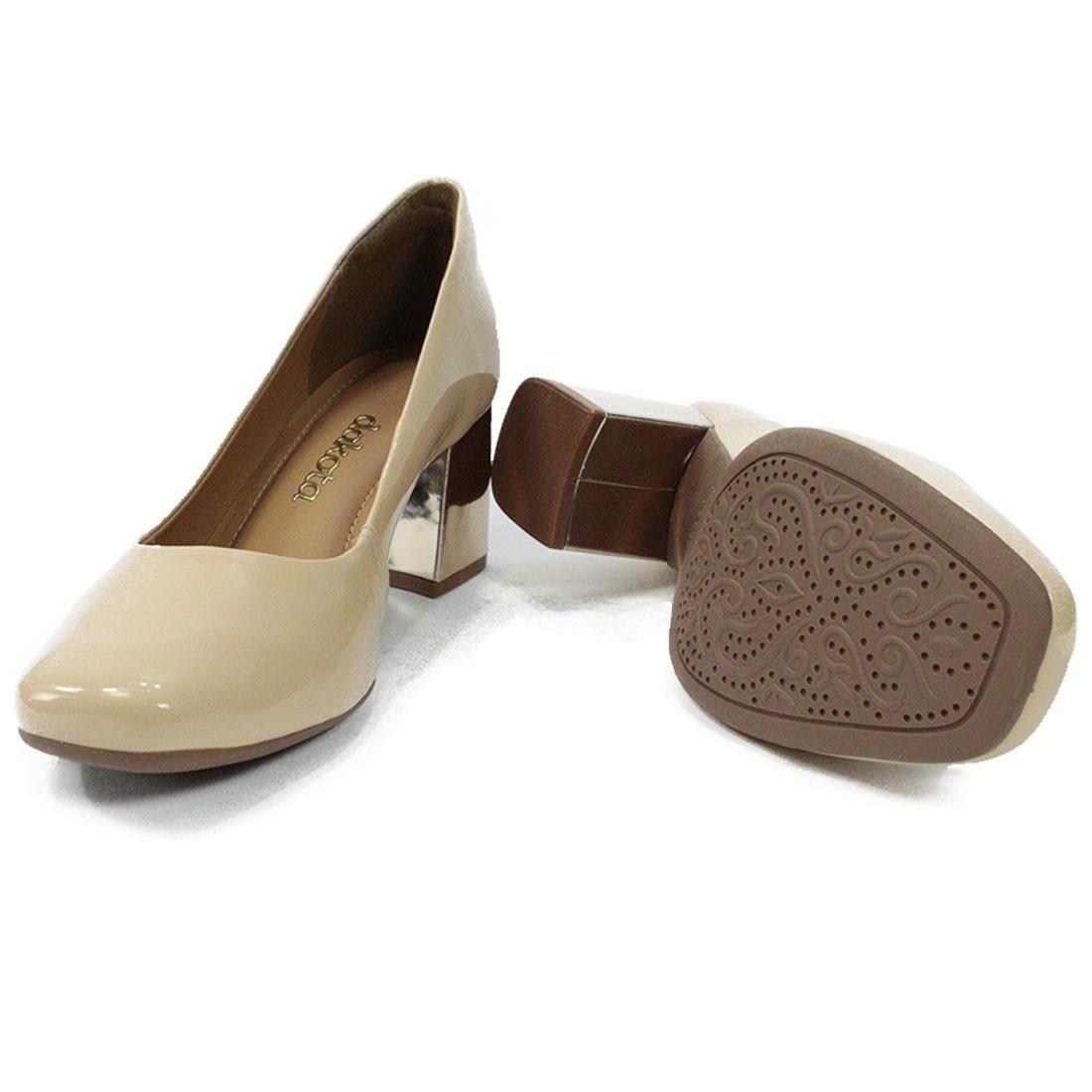5d5e5922b Sapato Feminino Scarpin Dakota Salto Bloco Verniz - R$ 120,90 em ...