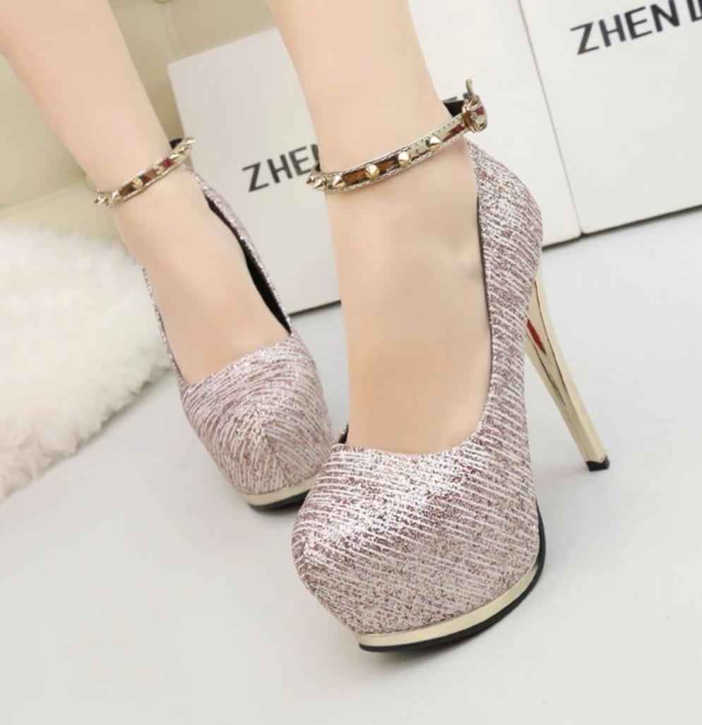 2a58651d0 sapato feminino scarpin importado moda 2018 rose luxo festa. Carregando  zoom.