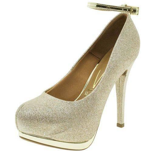 d0042b747 Sapato Feminino Scarpin Meia Pata Dourado Vizzano 1157317 - R$ 99,00 em  Mercado Livre
