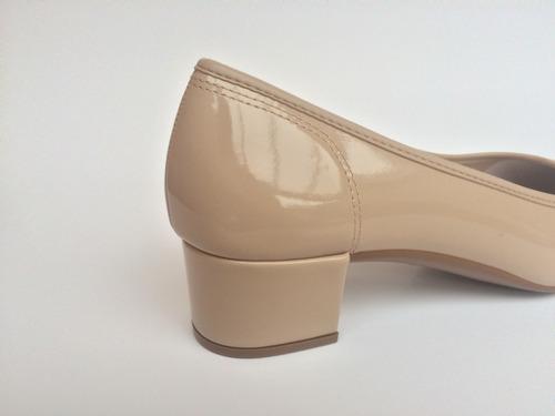 sapato feminino scarpin moleca salto baixo grosso 3td1