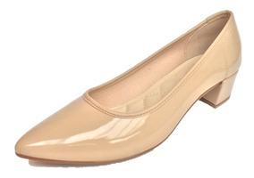06a3c5189 Scarpin Nude Camurça - Sapatos com o Melhores Preços no Mercado ...