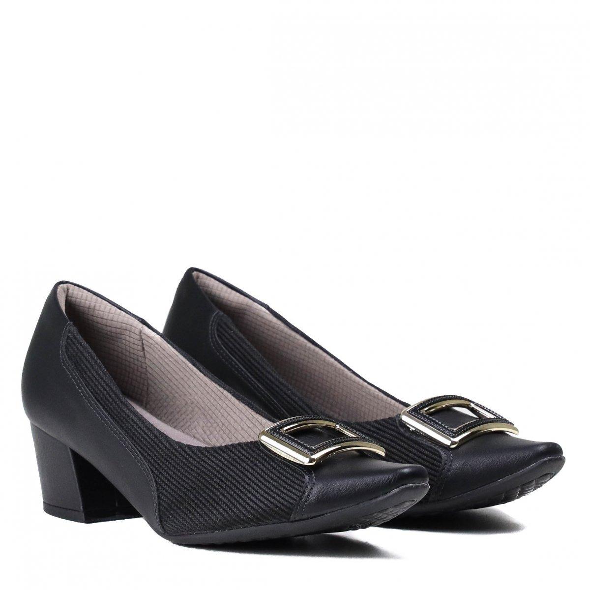 1e2643d650 sapato feminino scarpin piccadilly salto grosso preto 744070. Carregando  zoom.