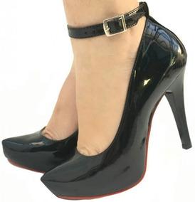 3fa95249fa Sapato Salto Alto Com Tornozeleira - Sapatos para Feminino no Mercado Livre  Brasil