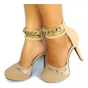 4f3f33583 Salto Alto Preto Formatura Feminino Scarpins - Sapatos com o Melhores  Preços no Mercado Livre Brasil