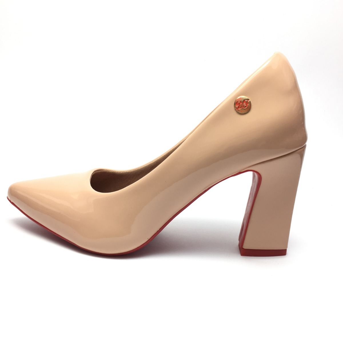 f5a6c257dc sapato feminino scarpin salto alto grosso festa evento nude. Carregando zoom .