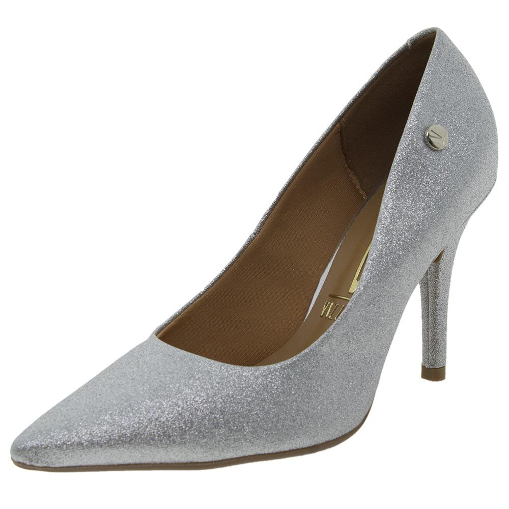 20e096cfe sapato feminino scarpin salto alto prata vizzano - 1184101. Carregando zoom.