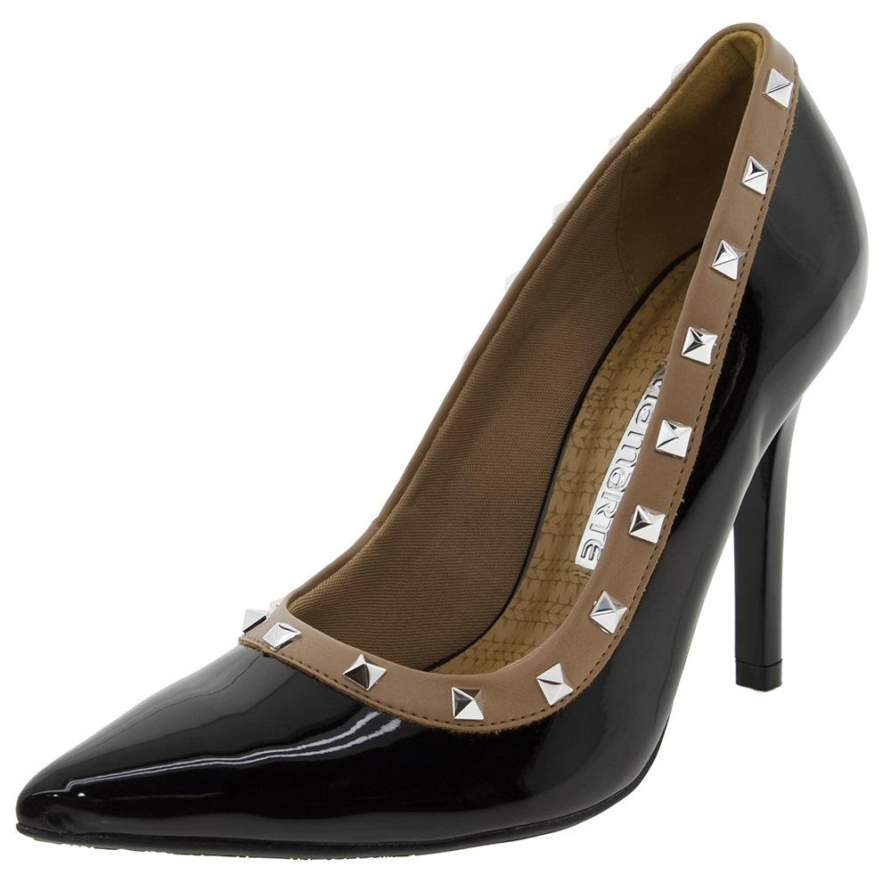 e6bef42a50 sapato feminino scarpin salto alto preto via marte - 1716301. Carregando  zoom.