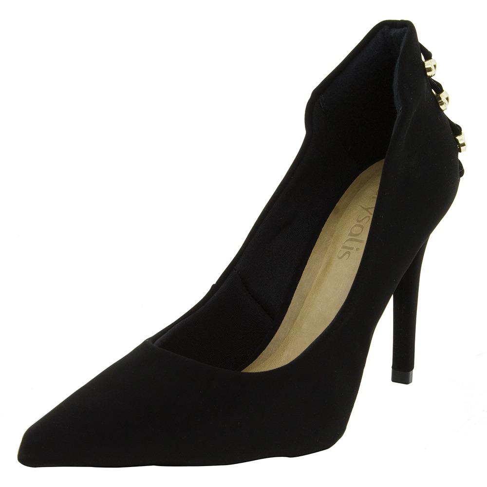 6253190274 sapato feminino scarpin salto alto preto nobuck - 51174765. Carregando zoom.