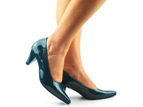 9eb69765c4 Scarpin Verde Escuro Feminino - Sapatos no Mercado Livre Brasil