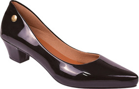 bccce52d0 Sapato Verde E Bege Verniz 36 Salto Baixo Peep Toe Scarpin - Sapatos ...
