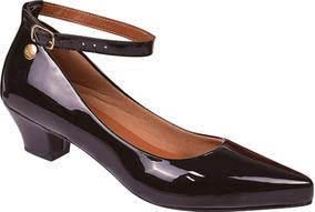 9283ba7762 Sapato Bico Redondo Salto Baixo Rosa Feminino Scarpins - Sapatos no ...