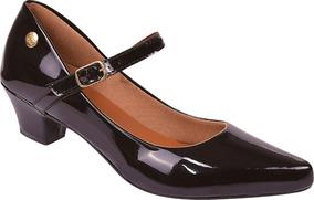 21e75f60a8 Sapato Bico Redondo Salto Baixo Rosa - Sapatos no Mercado Livre Brasil