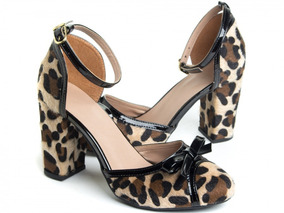 93a1d9add9 Sapato Feminino Scarpin De Oncinha - Sapatos no Mercado Livre Brasil