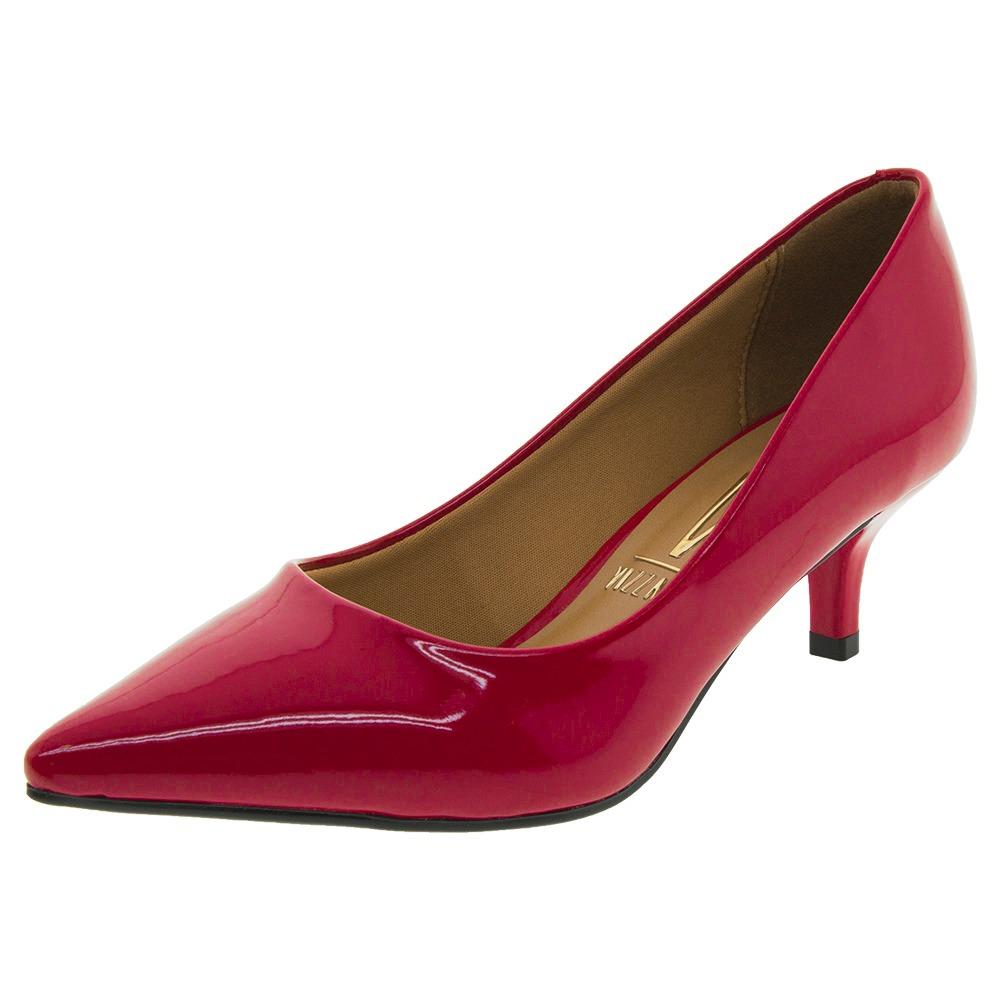 9cb1e2c63b sapato feminino scarpin salto baixo vermelho vizzano - 11226. Carregando  zoom.