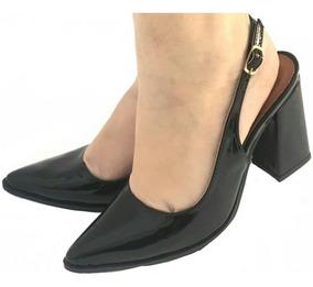 c2ac46974 Sapato Bico Fino Com Salto Grosso - Sapatos com o Melhores Preços no  Mercado Livre Brasil