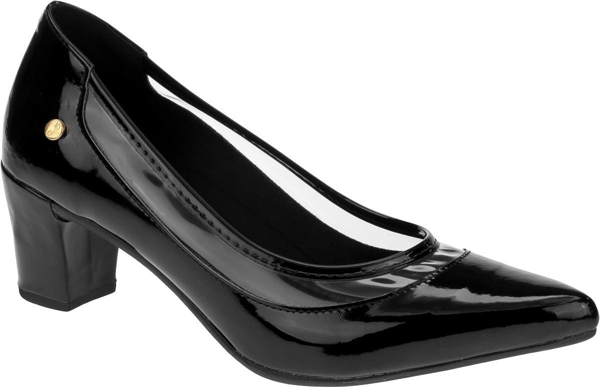 540461c4f9 sapato feminino scarpin salto grosso cristal transparente. Carregando zoom.