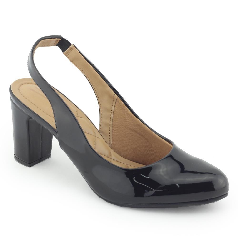 eb9527ae82 sapato feminino scarpin salto grosso vizzano 1288103 chanel. Carregando  zoom.