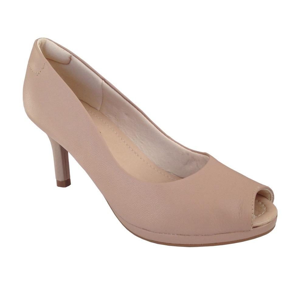 9b1ff5826 sapato feminino scarpin usaflex u2002 peep toe couro salto 7. Carregando  zoom.