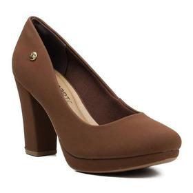 Sapato Feminino Scarpin Via Marte 20-1654 Cacau