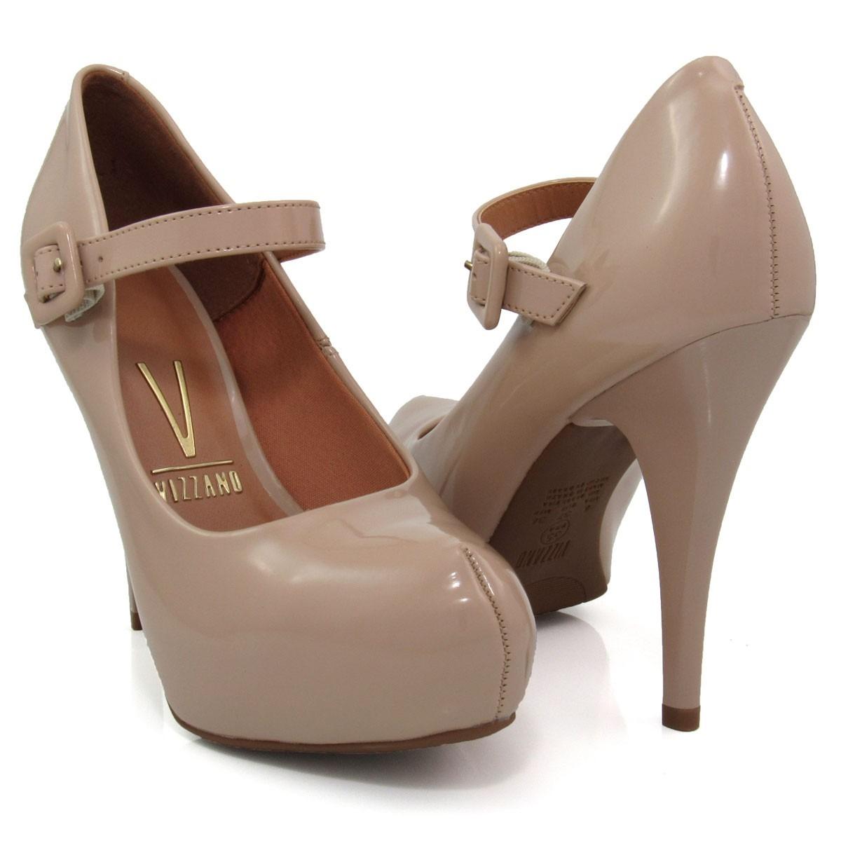 b38cd08d5 Sapato Feminino Scarpin Vizzano 1143304 Boneca Verniz - R$ 115,00 em ...