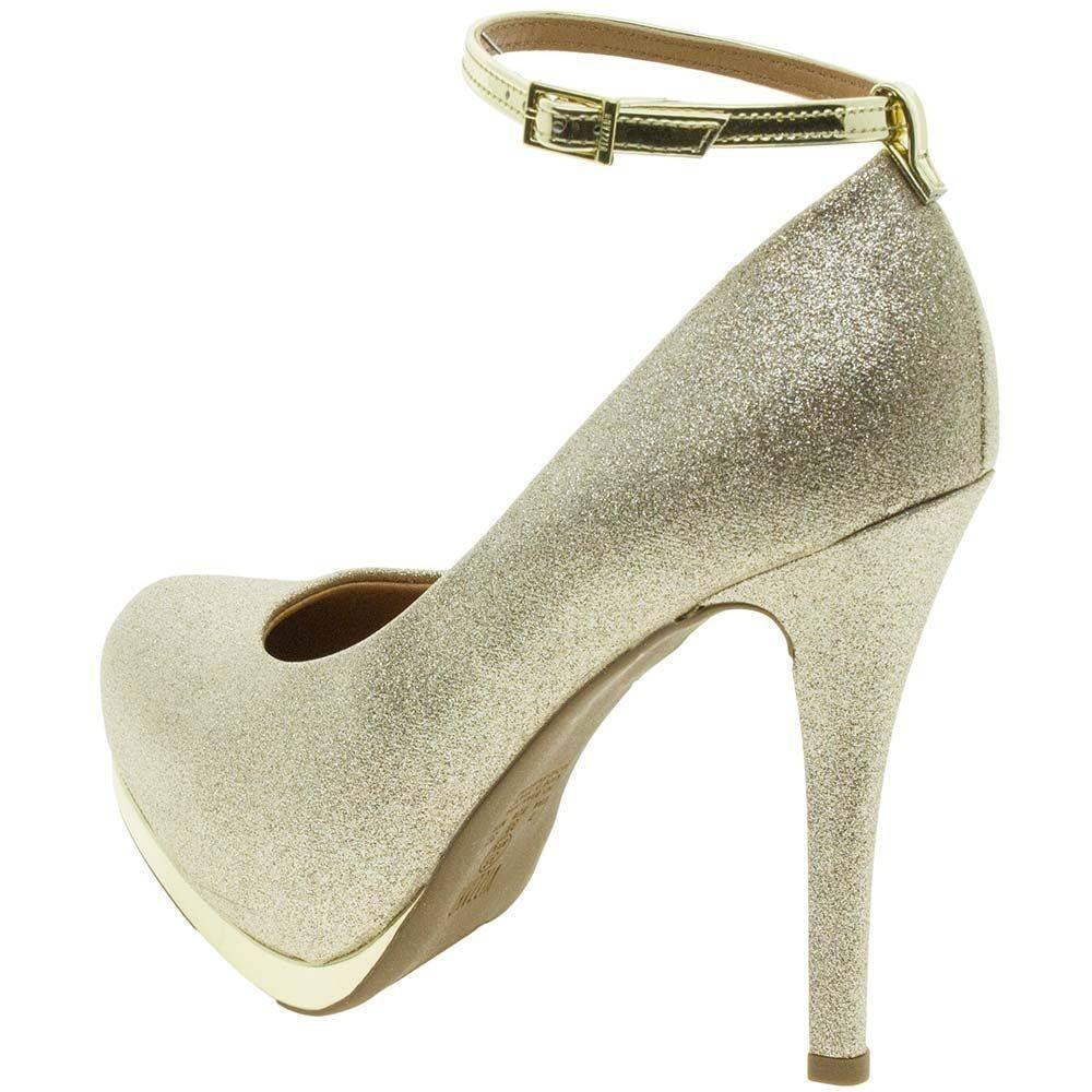 09331aa13 sapato feminino scarpin meia pata dourado vizzano 1157317 · sapato feminino  scarpin vizzano. Carregando zoom.