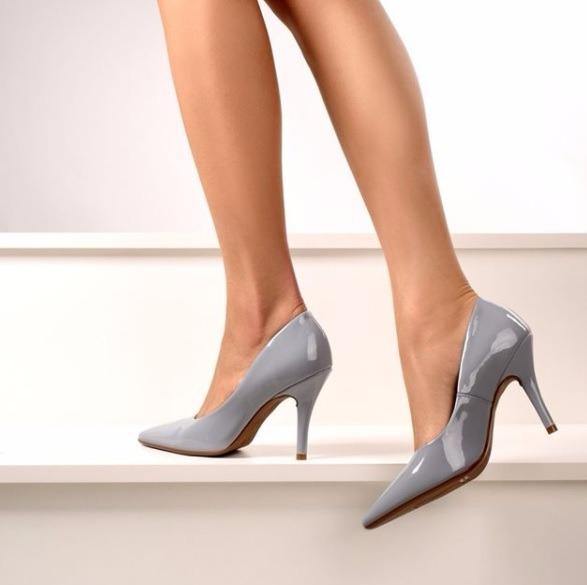 f8d944d1a ... azul jeans verniz 1184-101. Carregando zoom... sapato feminino scarpin  vizzano