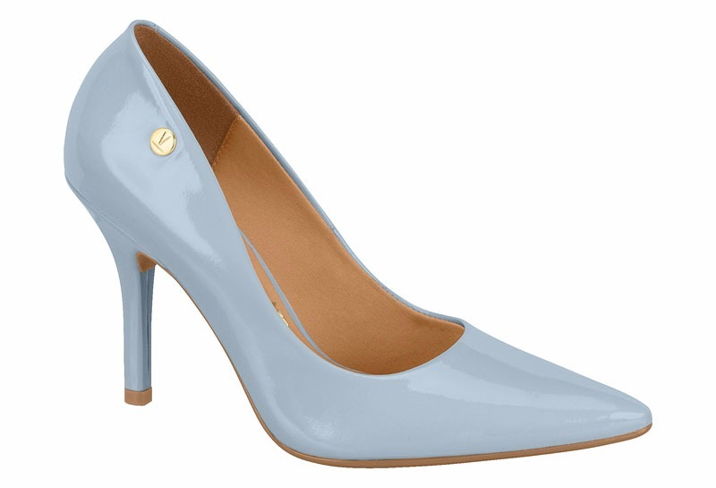 4cbd93945 Sapato Feminino Scarpin Vizzano Azul Jeans Verniz 1184-101 - R  79 ...