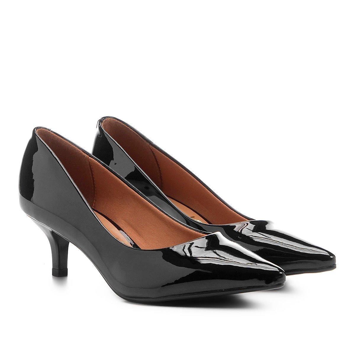 a2f989a468 sapato feminino scarpin vizzano bico fino salto baixo 1122. Carregando zoom.
