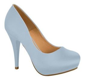 38b0baa298 Sapato Vizzano Meia Pata Azul - Sapatos com o Melhores Preços no ...