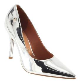 6fe4f7846 Sapato Scarpin Prata Metalizado Zara Scarpins - Sapatos com o ...