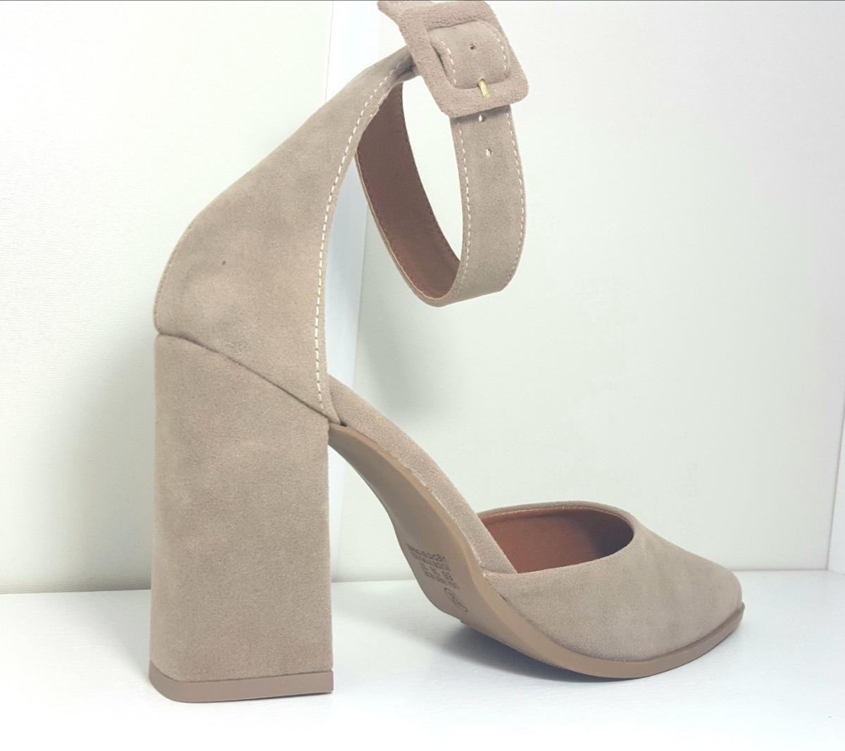 f07ce8d5bc sapato feminino scarpins fechado bico fino salto grosso top. Carregando  zoom.