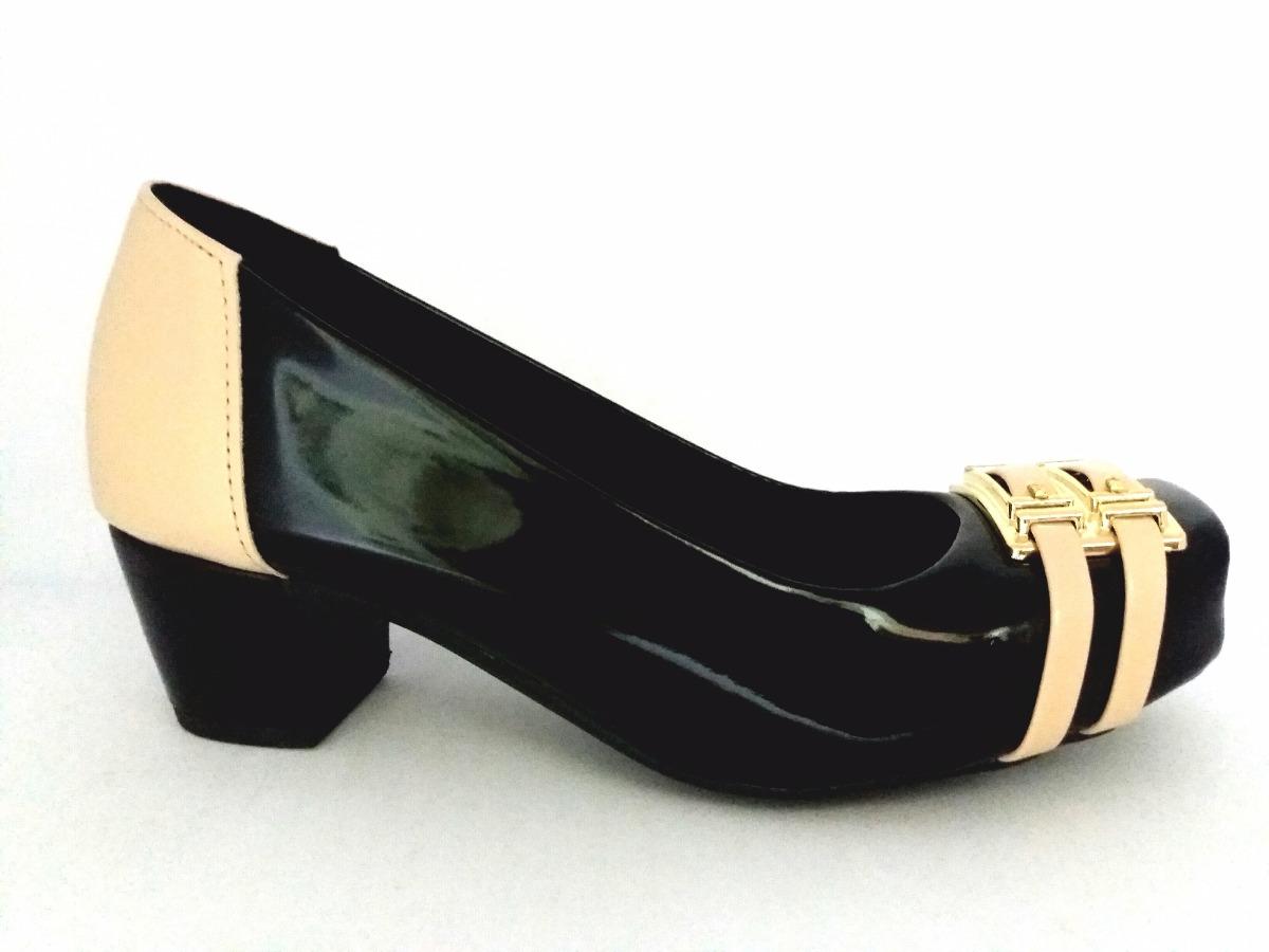 de52e113f Sapato Feminino Social Salto Grosso Baixo - R$ 67,99 em Mercado Livre
