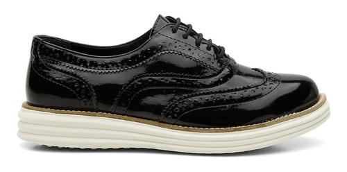 sapato feminino tenis linha oxford sintetico dex promoçao barato sapatenis