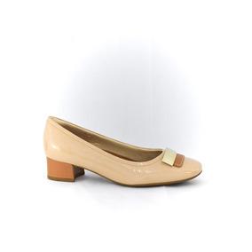 9942957109 Scarpin Usaflex Nude Verniz - Sapatos no Mercado Livre Brasil