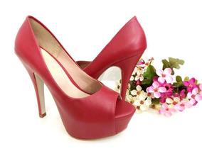 a76ea9e62 Sapato Meia Pata Salto 8 Cm - Sapatos para Feminino Vermelho no ...