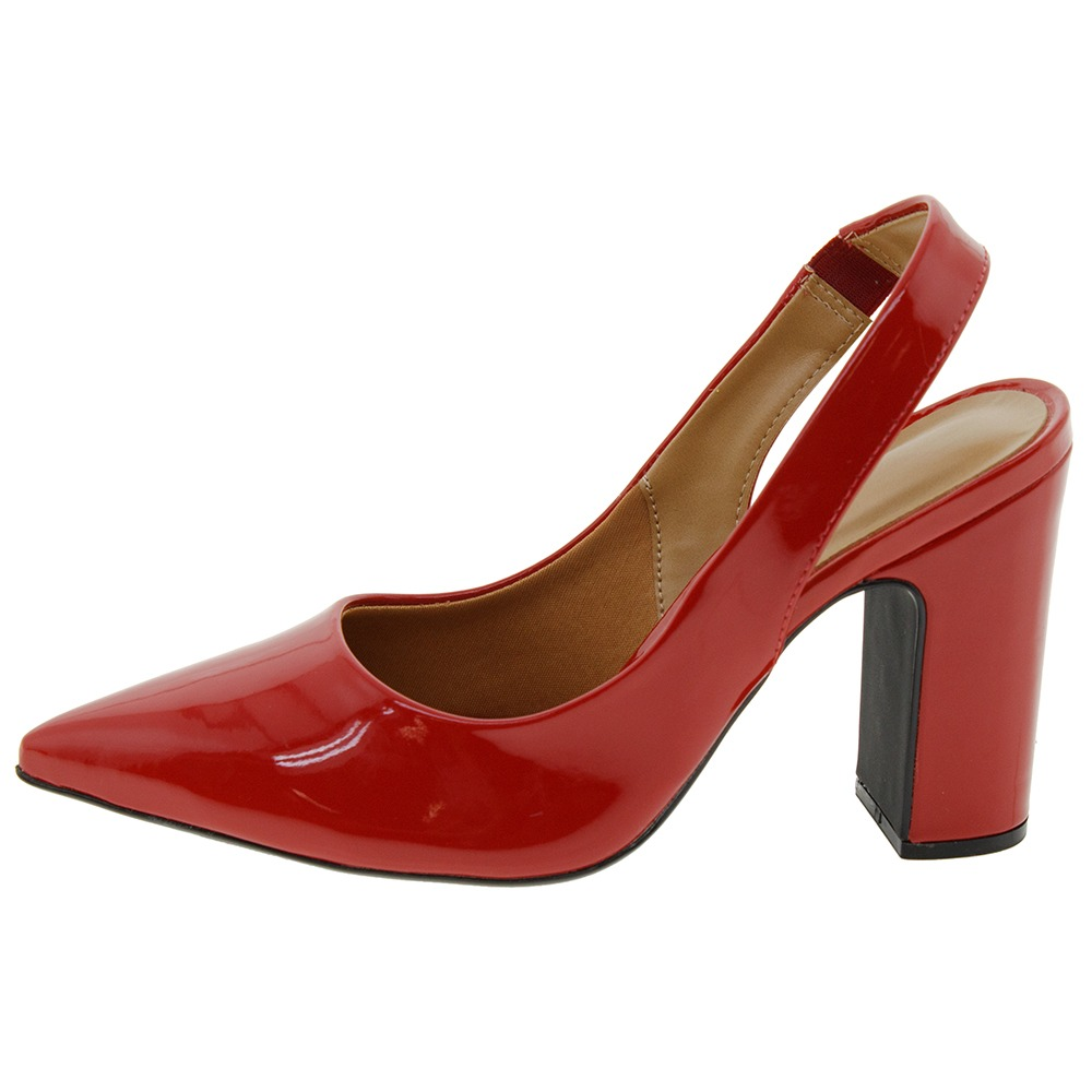 b68a8e6cd Sapato Feminino Chanel Vermelho Vizzano - 1285103 - R$ 79,99 em ...