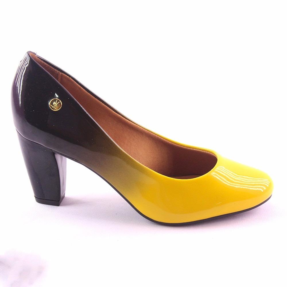 9dc0052f89 sapato feminino vizzano degrade preto e amarelo 584310. Carregando zoom.