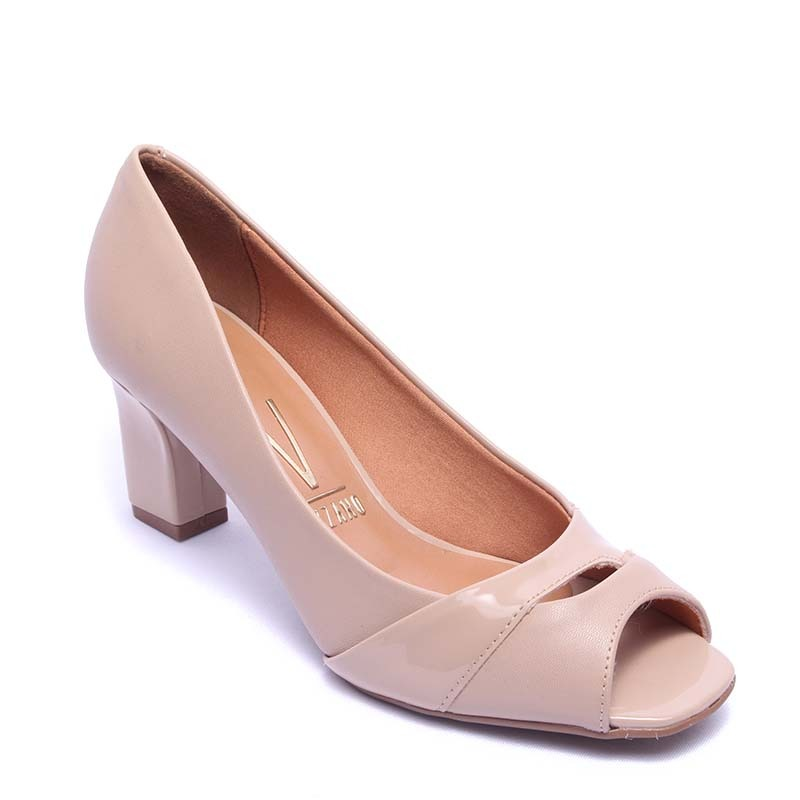 5db3733f54 sapato feminino vizzano peep toe 1818.423. Carregando zoom.