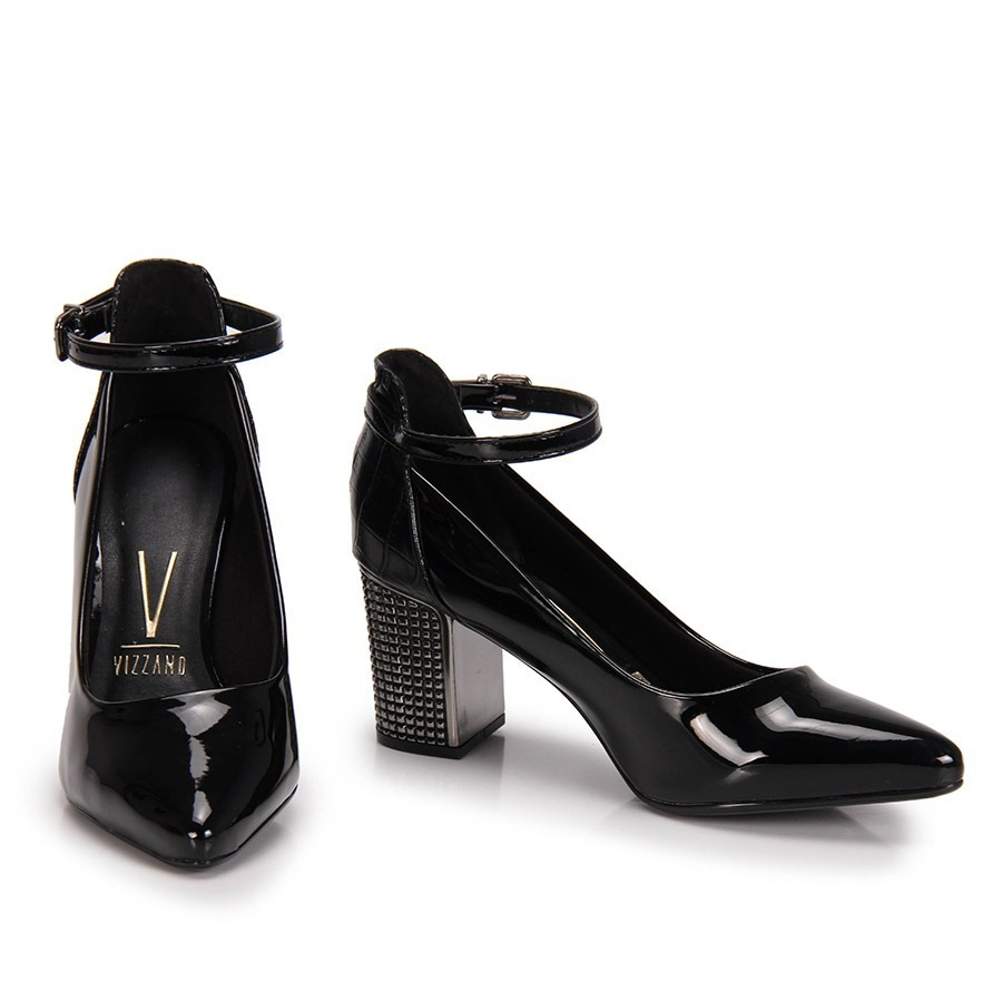 a44cb24ffa sapato feminino vizzano scarpin salto alto grosso verniz. Carregando zoom.