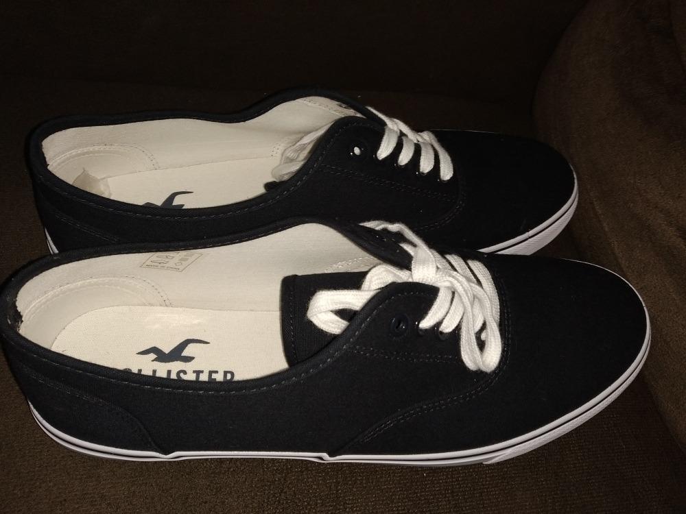 brand new 822db 05b2a Sapato Hollister Lo Sneaker (azul) (novo) (tam: 43)