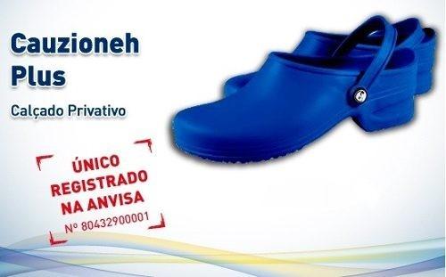 5133ae9344 Sapato Hospitalar Cauzioneh Plus Azul - R  50